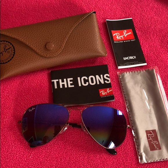 b67b85f1a7 Ray-Ban RB3025 58 Rainbow Aviator